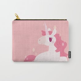 Pretty Pink Unicorn Carry-All Pouch