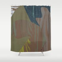 reassurance Shower Curtains featuring Feel the texture I by Magdalena Hristova