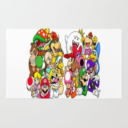 Super Mario Bros characters Rug