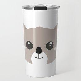 Cute friendly Koala head Travel Mug