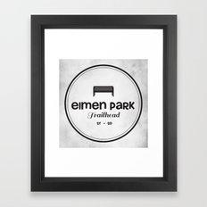 Elmen Park Trailhead Framed Art Print