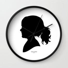 Annie Carlson Silhouette Wall Clock