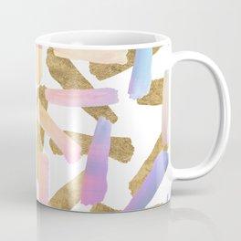 Modern pink lavender teal gold watercolor brushstrokes Coffee Mug