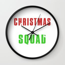 Christmas Morning Squad Wall Clock