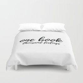 One Book Thousand Feelings Duvet Cover