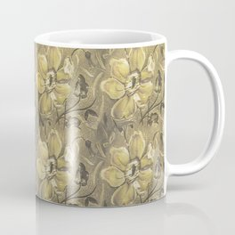 Retro Stlye Floral Decorative Print Pattern Coffee Mug