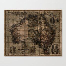 Vintage Map of Australia Canvas Print
