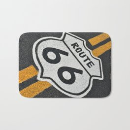 Route 66 sign. Bath Mat