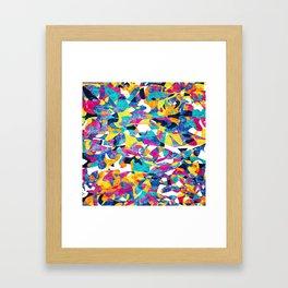 Abstract Geometric Multi-Color Blending Weird Texture Background Framed Art Print