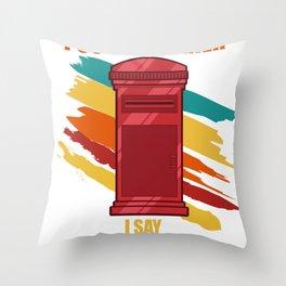 Postman Postal Carrier Mail Escort Vintage Gift Throw Pillow