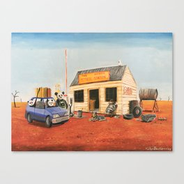 The Outback Petrol Station Canvas Print