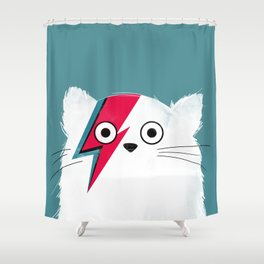 Cat Hero White Shower Curtain