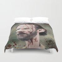 grimes Duvet Covers featuring Rick Grimes by dbruce