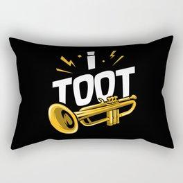 I Toot   Trumpets Rectangular Pillow