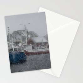 Peggys Cove enjoying a Nor'Easter Stationery Cards
