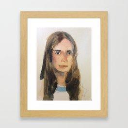 Brunette Framed Art Print
