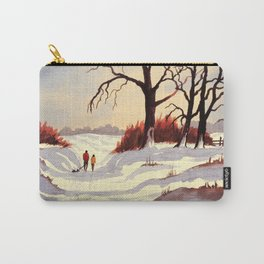 Sledding At Christmas Time Carry-All Pouch