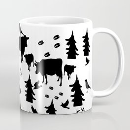 Cow Out In the Pasture by Lorloves Design Coffee Mug
