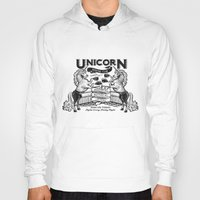boxing Hoodies featuring Unicorn Boxing by Kellabell9