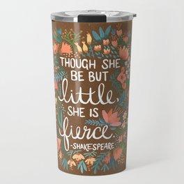 Little & Fierce on Kraft Travel Mug