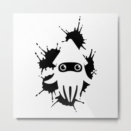 Blooper Ink Stain Metal Print