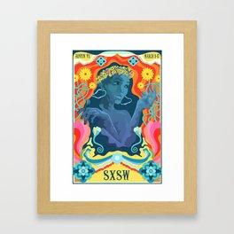 SXSW Mock Poster Framed Art Print
