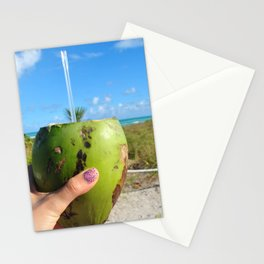 Cheers with a coconut Stationery Cards