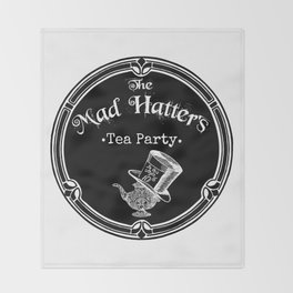 Alice In Wonderland Mad Hatter Tea Party Throw Blanket