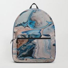 Breaking Wave Blue Macro Print Backpack