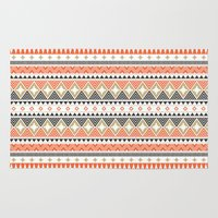 navajo Area & Throw Rugs featuring Navajo Pattern by The Babybirds
