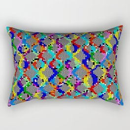 Chain Linked Stained Glass Rectangular Pillow