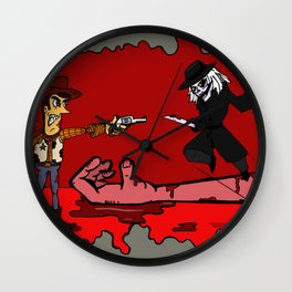 Hooked on Wood Wall Clock