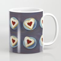 cookies Mugs featuring Linzer Cookies by Jill Byers