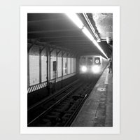 subway Art Prints featuring Subway by Lisa Marie