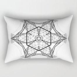 electro mandala Rectangular Pillow