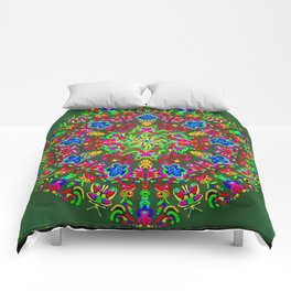 Magic butterfly circle Comforters