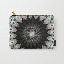 Peacock Eyes Mandala Carry-All Pouch