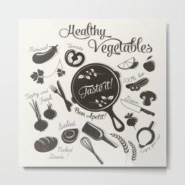 Health Vegetables Metal Print