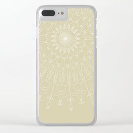 Lace on cream Clear iPhone Case