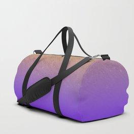 Elegant gold faux glitter chic purple gradient pattern Duffle Bag