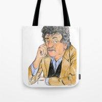 vonnegut Tote Bags featuring Vonnegut by McHank