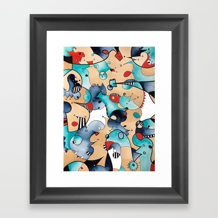 Abstrat High Tea Contrast Framed Art Print