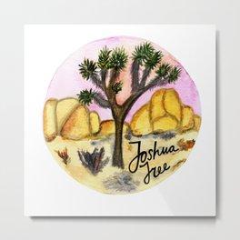 Joshua Tree National Park Watercolor Metal Print