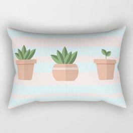 Succulent Pattern Rectangular Pillow