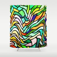 stained glass Shower Curtains featuring Stained glass by haroulita