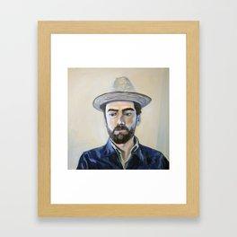 Man in a Cuban Hat Framed Art Print