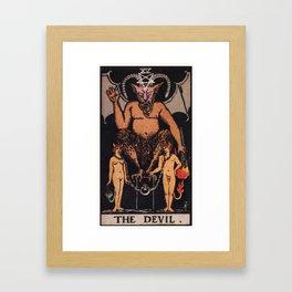The Devil Tarot Card Framed Art Print