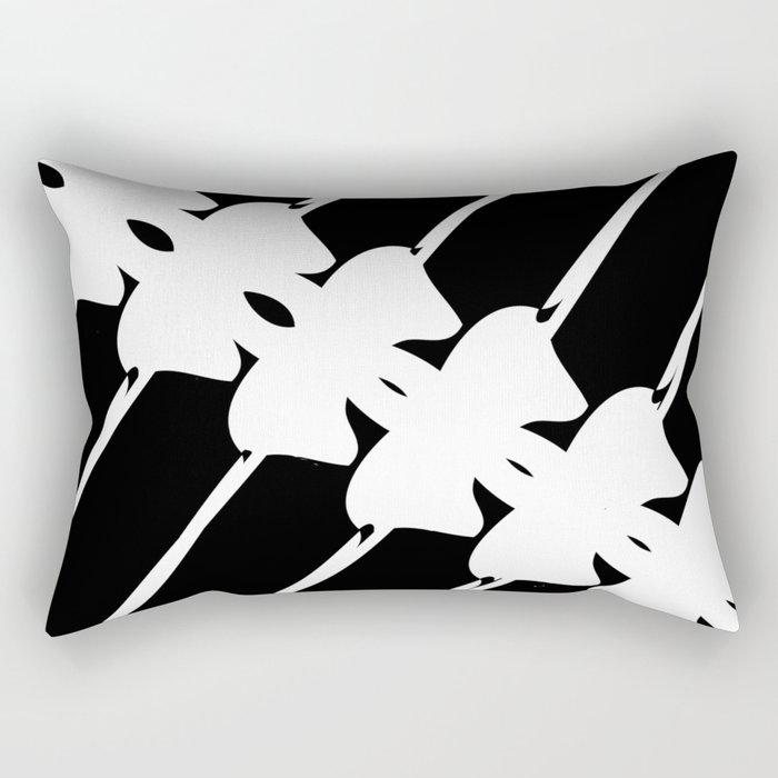 black & white ganchirijillo Rectangular Pillow