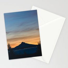 Morning Mountain Shadow - 131/365 Mount Hood Nature Photography Stationery Cards