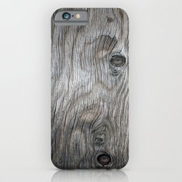 Real Aged Silver Wood iPhone Case